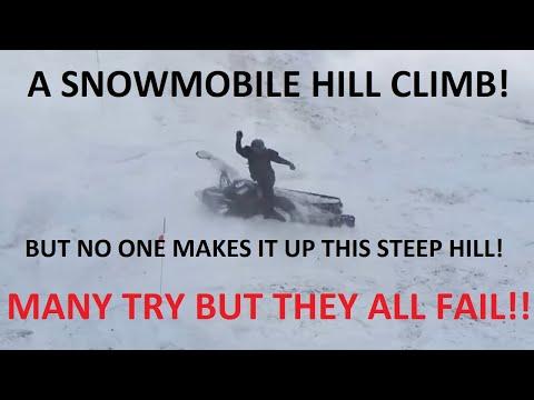 Hardest Snowmobile Hill Climb Ever..