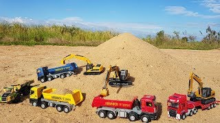 Construction Vehicles Toys For Kids Dump Truck Excavator Road Roller Toys For Children | Vic Vic