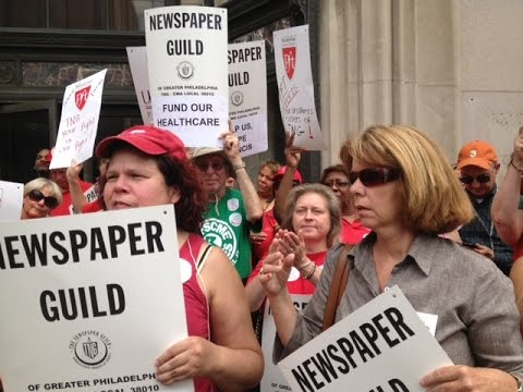 Philadelphia Inquirer CWA Newspaper Guild Workers Rally For A Fair Contract