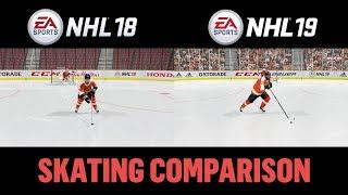 NHL 19 vs NHL 18 Skating Comparison