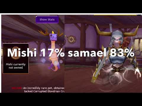 Arcane legends my new arcane pet samael!!