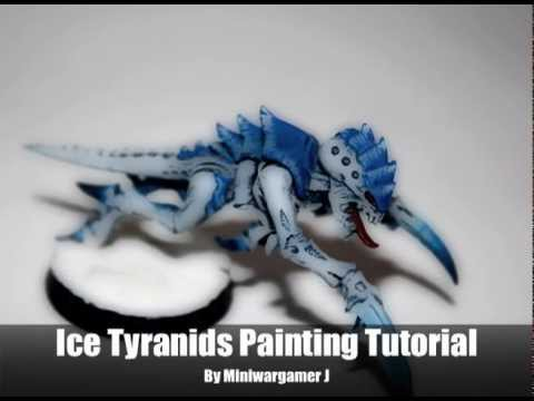 Warhammer 40K Painting Tutorial - How to Paint Ice Tyranids