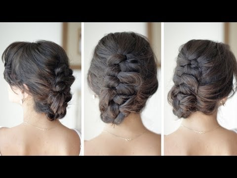 Dutch Braid Up-Do Hair Tutorial