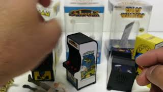 Tiny Arcade video game Key Chain Pacman Galaxian Space Invaders