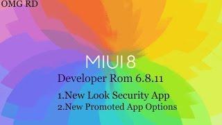 Features of miui 8 developer rom 6.8.11