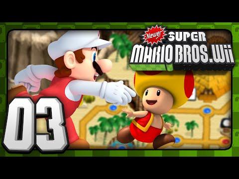 Newer Super Mario Bros Wii - Co-Op - World 2 (1/2)
