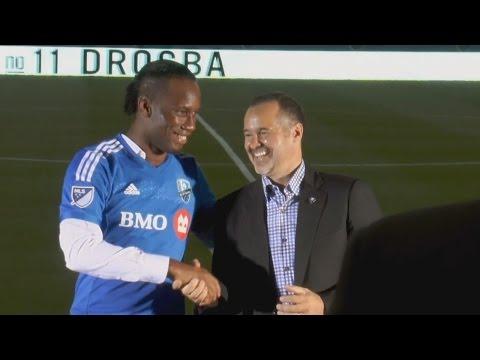Arrivée de Didier Drogba à l' impact de Montréal: Conférence de presse de Drogba au stade Saputo