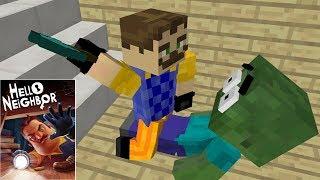 Monster School : HELLO NEIGHBOR HORROR GAME CHALLENGE II - Minecraft Animation