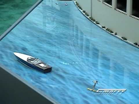 Custom Animated Water Skier in O Scale Video