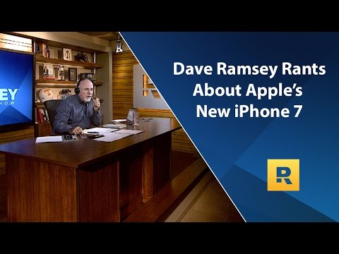 Dave Ramsey Rants About Apple's New iPhone 7