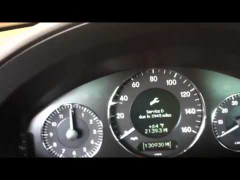 How To Reset Service Light On Mercedes E