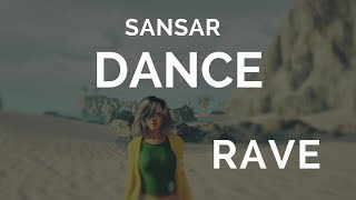 Sansar dance video rave on the beach