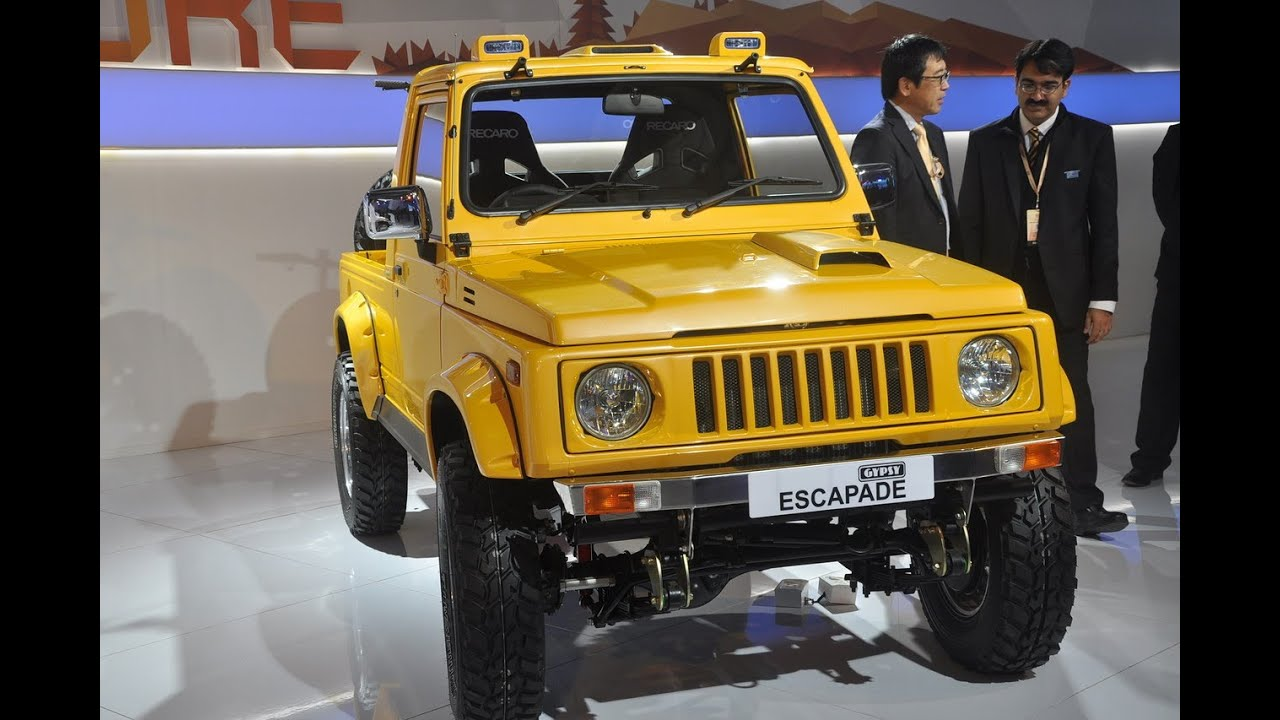 Delhi Auto Expo 2014 Maruti Gypsy Escapade Showcased