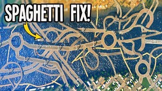 Explosive City Fix of Terrible Spaghetti Roads in Cities Skylines