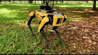 Video: Singapore: Social distancing enforced by Boston Dynamics Robot