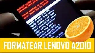 Formatear Lenovo A2010 - A2010I36