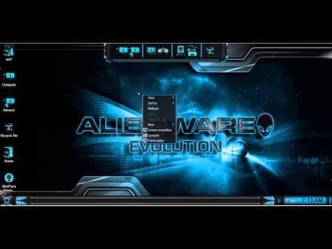 SkinPack Alienware Evolution win7