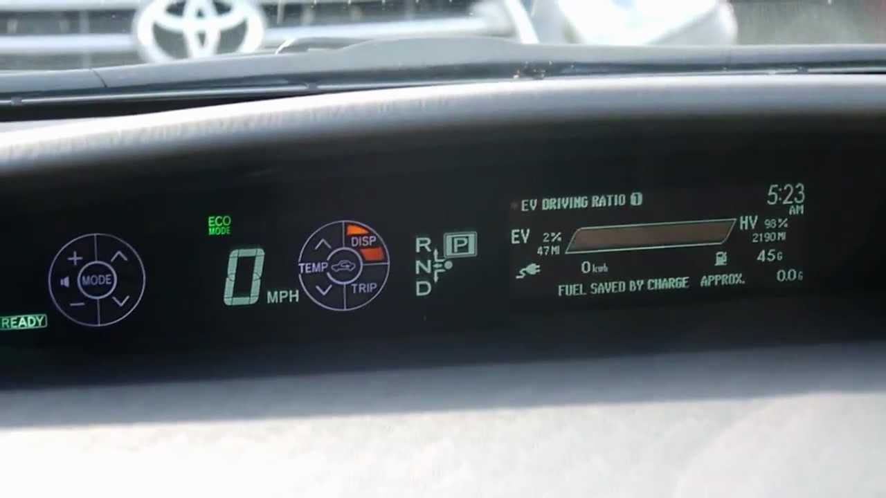 Toyota Prius Plug In Hybrid Dashboard Youtube