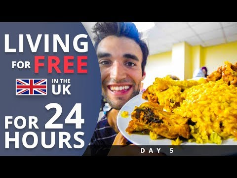 LIVING for FREE for 24 HOURS in THE UK! Day 5
