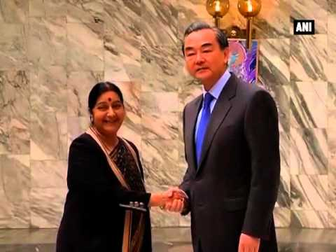 Sushma Swaraj meets Chinese President Wang Yi