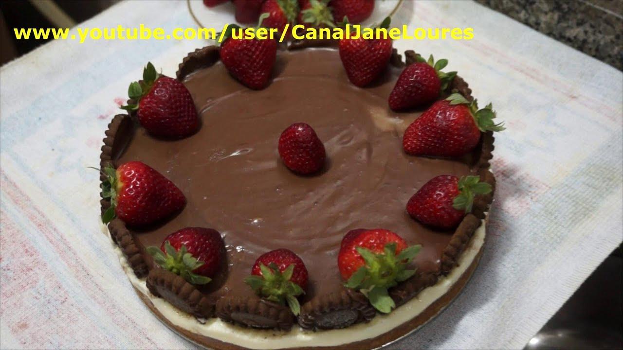 Torta Morango Gelada Torta Holandesa Gelada