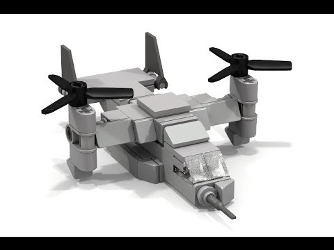 How to Build MINI LEGO V-22 Osprey
