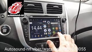 "Штатная Магнитола Hyundai Solaris 7""(2011+)android 6.0(4 ядра 1/16)"