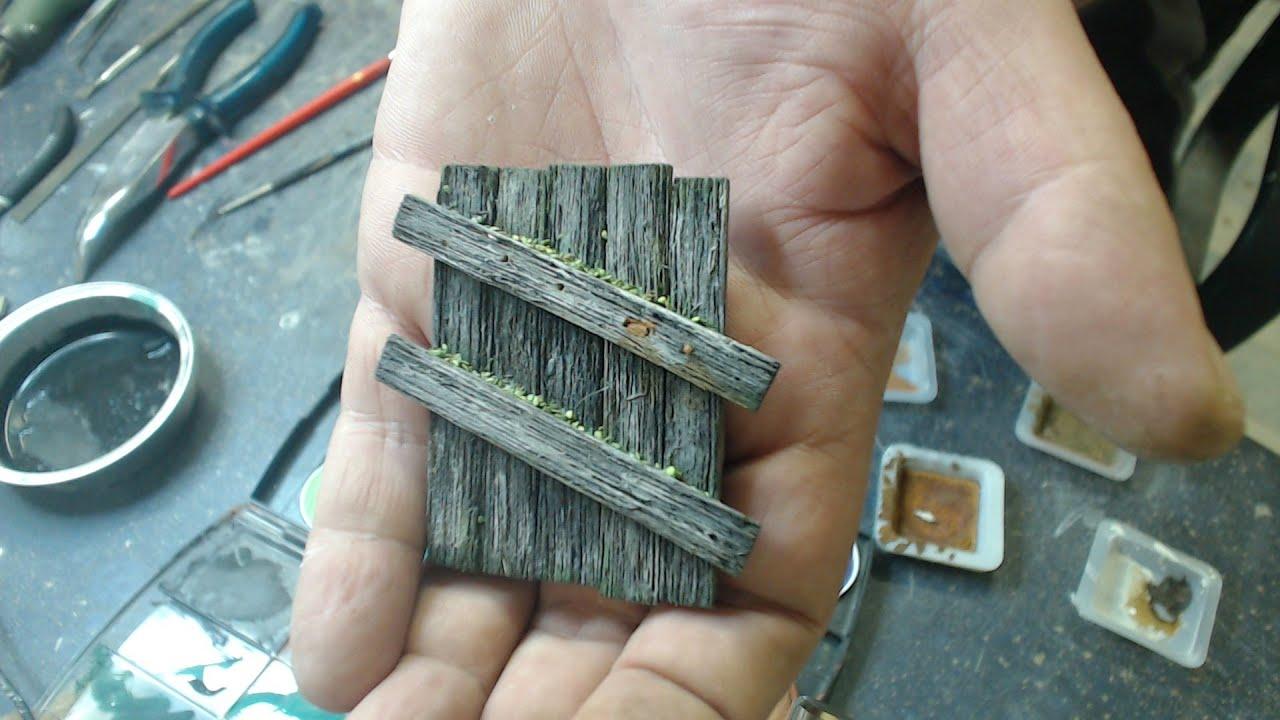 Holz Altern im Modellbau