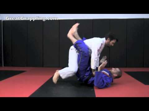 Open Guard Sweep Hook Ankles and Push Image 1