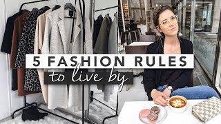 5 Fashion Rules to Live By | Erin Elizabeth