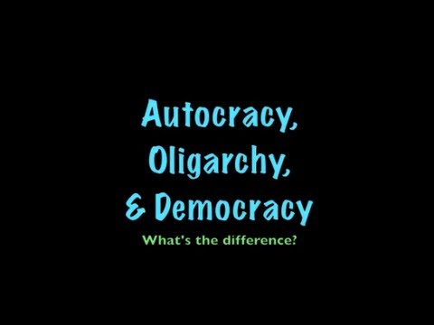 oligarchy or democracy An oligarchy can occur in any political system in a democracy, oligarchs are not elected by the people instead, they use their relationships and money to influence the elected officials.