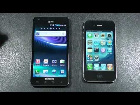 "Samsung Infuse 4G vs Apple iPhone 4 ""AT&T Face Off"""