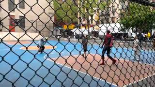 Andrew Garfield crossover dribble and jump shot  Amazing Spiderman 2 in Chinatown Basketball