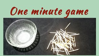 One minute game for ladies kitty party/fun game/punctuality idea.