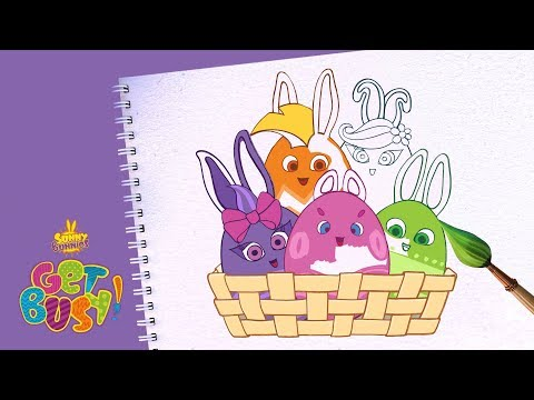 BRAND NEW - SUNNY BUNNIES | EASTER BUNNIES DRAWING | Arts & Crafts | Cartoons for Kids