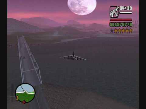 How TO Fly A HYDRA JET ON GTA SA PC