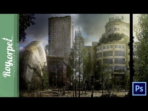 Abandoned Dutch City (Eindhoven) | Photoshop Time Lapse video (wallpaper in discription) 1080 HD
