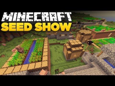 Minecraft 1.8 Seeds: Spawn next to NPC. Jungle. BIG CAVE!!!