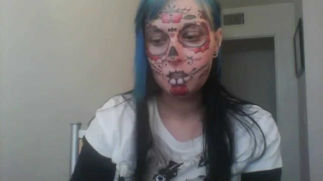Sugar skull face tattoo review youtube for Tv show with tattooed woman