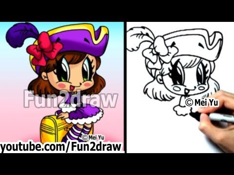 "people"" - ""How to draw a girl"" - ""How to draw a chibi"" step by step"