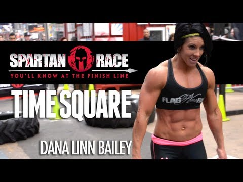 Spartan Race Demo in TIme Square with Dana Linn Bailey