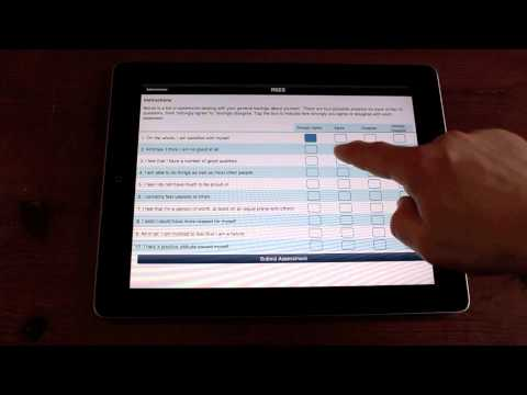 Psychology testing iPad app - NovoPsych - Mental health clinician demonstrates