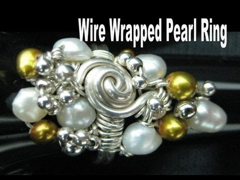 Wire Wrapped Pearl Ring   Liz Kreate