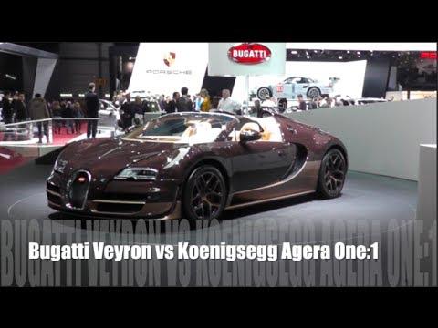 bugatti veyron vs koenigsegg one 1 youtube. Black Bedroom Furniture Sets. Home Design Ideas