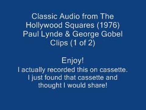 Classic Hollywood Squares (Paul Lynde & George Gobel) 1 of 2 Video
