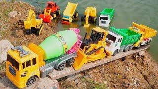 Construction Vehicles encountered Sand Storms | Excavator rescue Cement Mixer Truck, Road Rollers