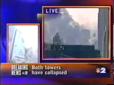 9/11 WCBS Reporter John Slattery 8 Blocks North After Collapses 1120am