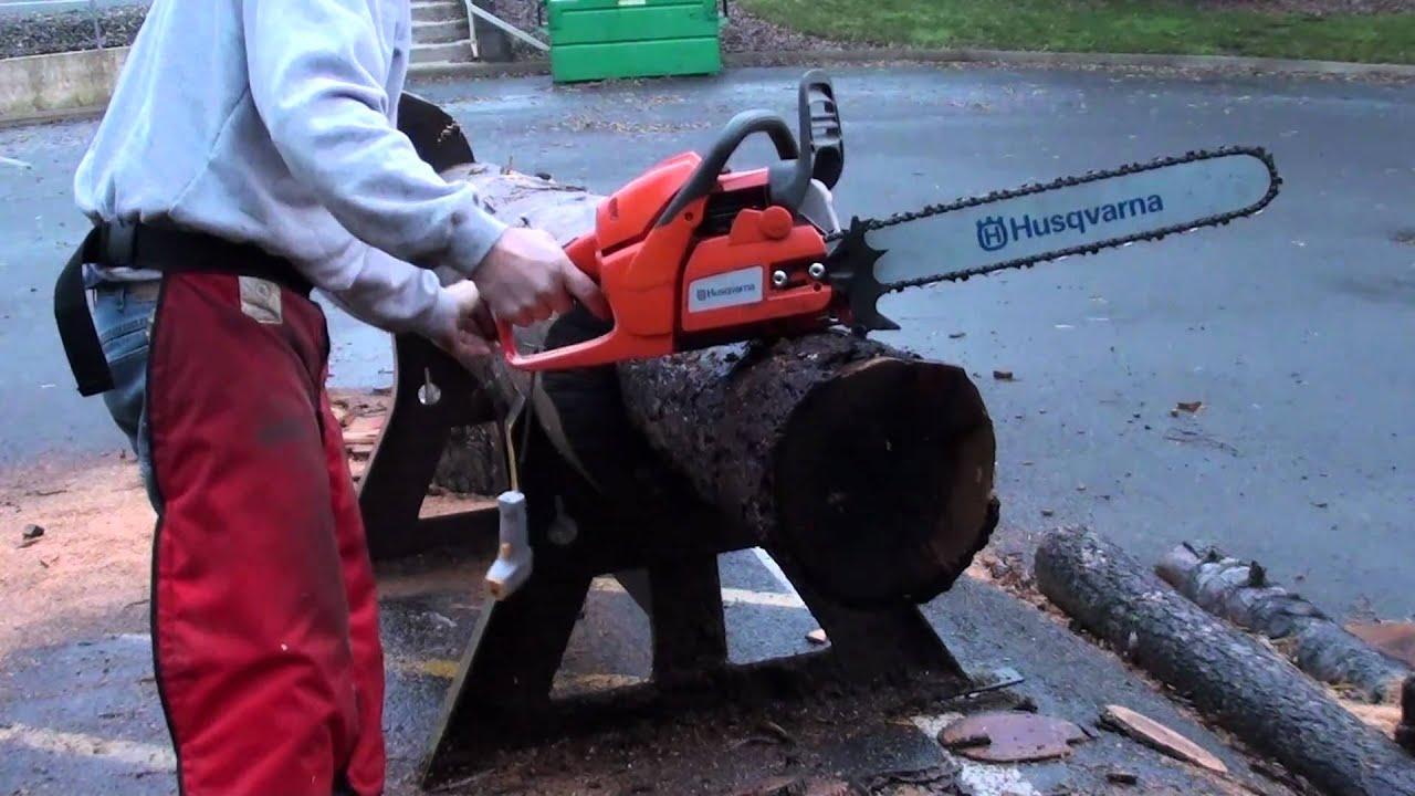 the chainsaw guy log testing husqvarna 455 rancher