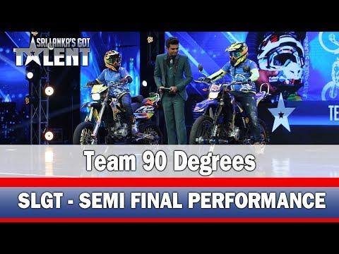 Team 90 degrees - Stunt Performance l #SLGT-Semi Final Performance