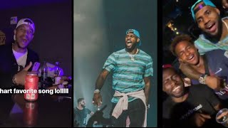 Download Lagu Lebron James onstage with Drake and travis Scott concert staple center Gratis STAFABAND